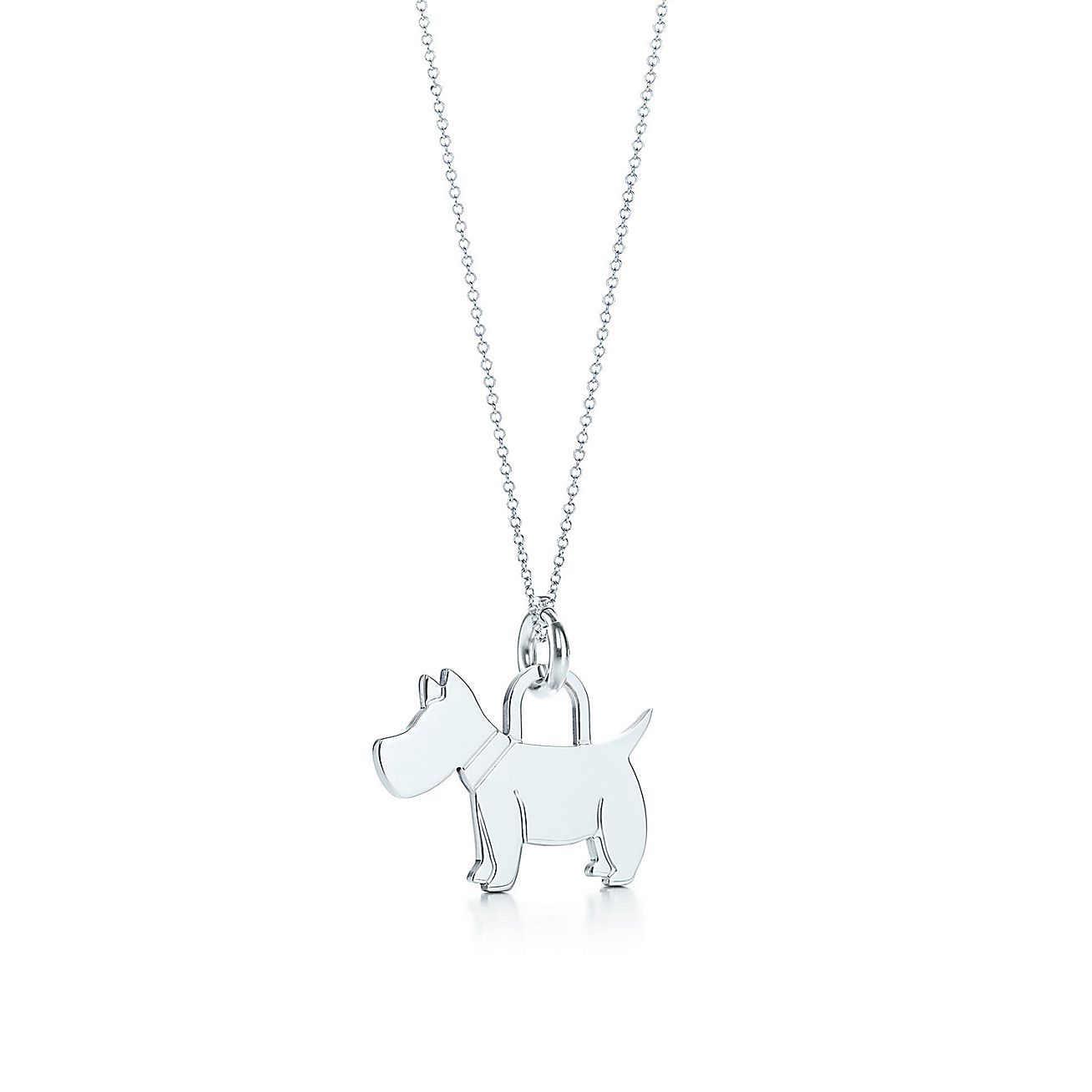 Scottie<br>tag charm and chain