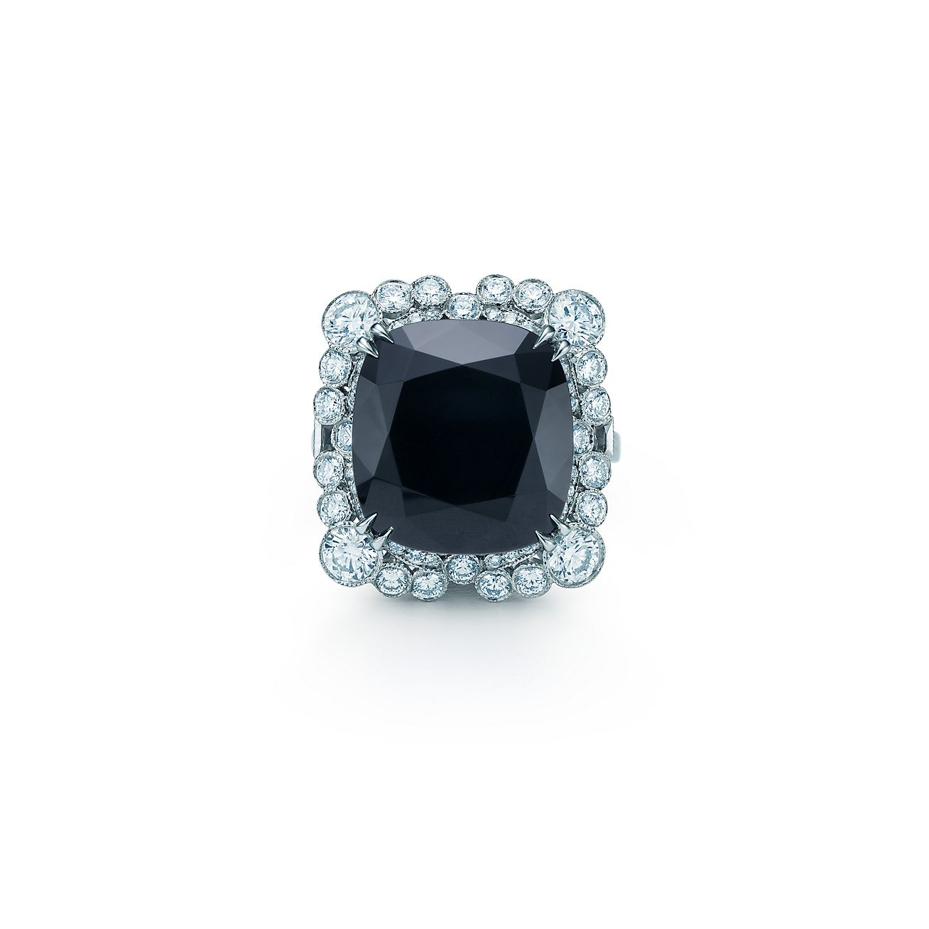 The Gatsby Collection ring of diamonds and an 8 20 carat black onyx