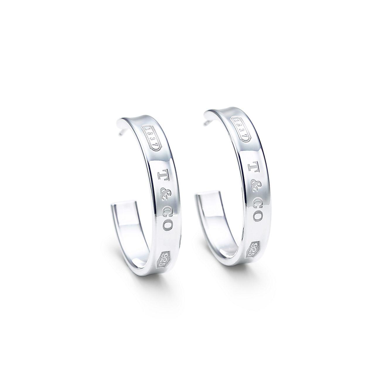 Tiffany 1837™<br>hoop earrings