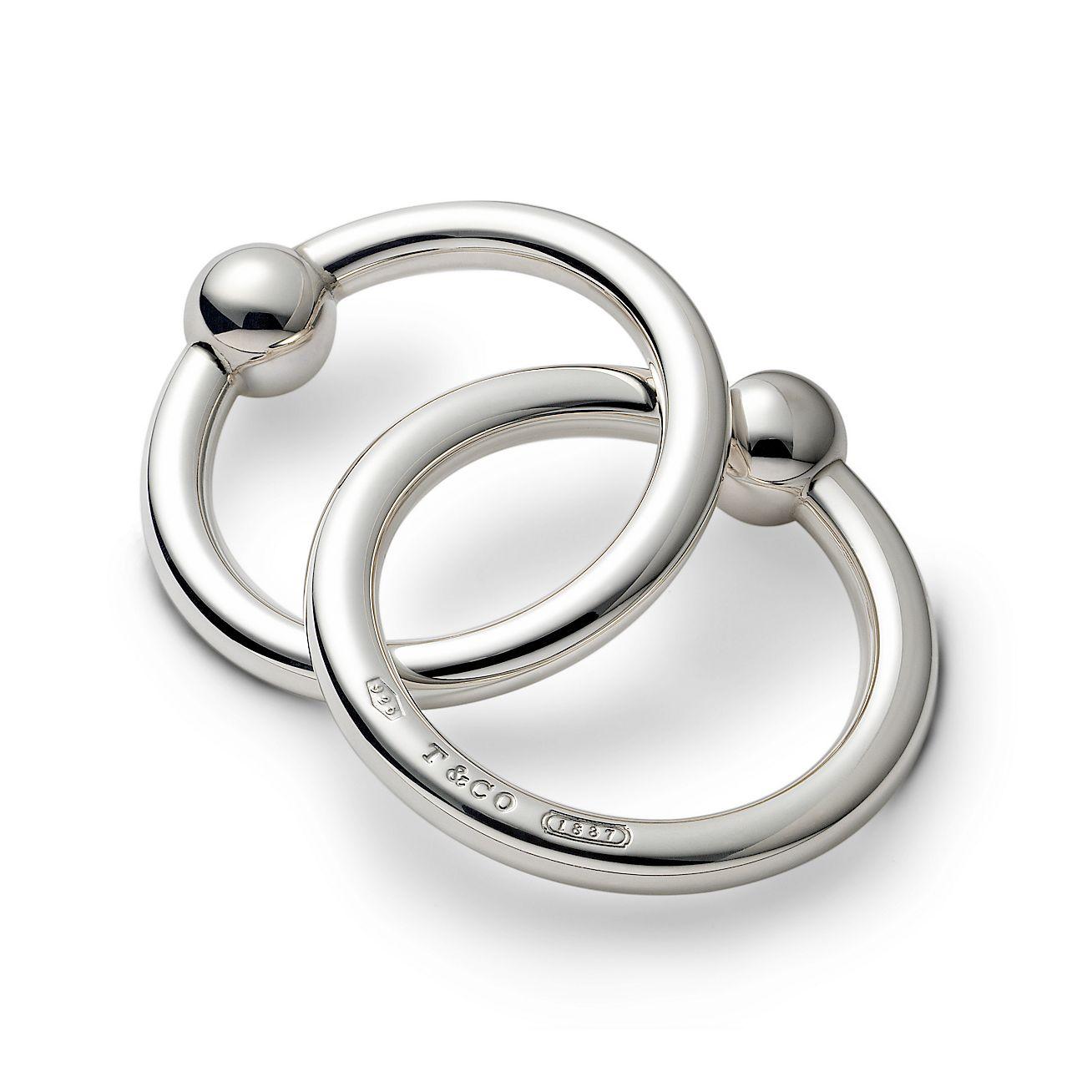 1837 teething ring rattle in sterling