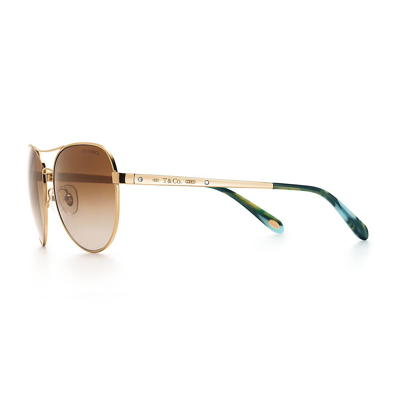 bac728c46578 Tiffany Locks Aviator Sunglasses Gold