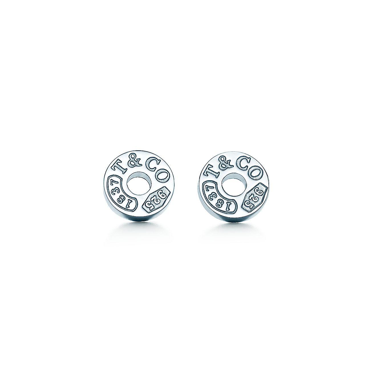 Tiffany 1837 174 Circle Earrings In Sterling Silver