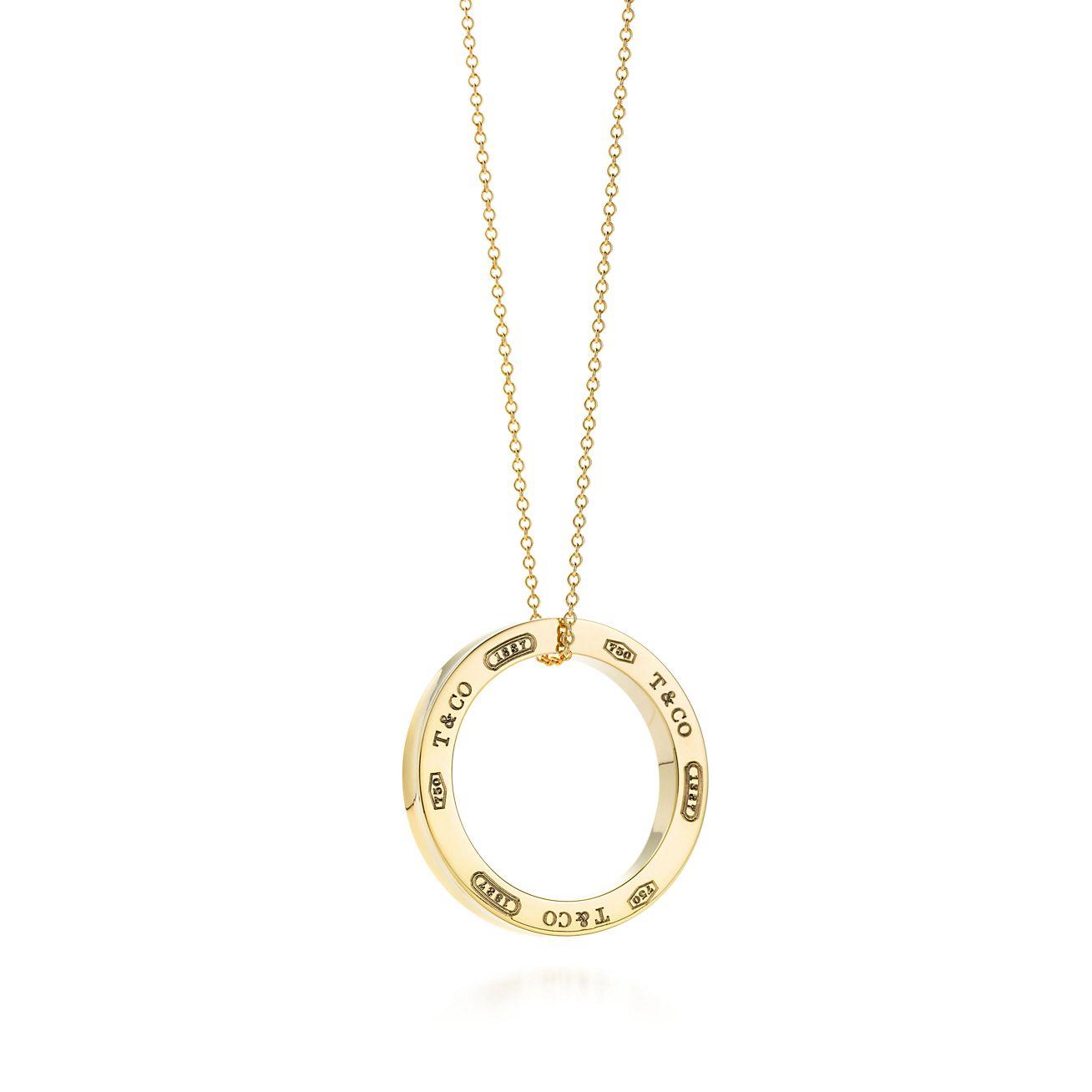 1837 174 circle pendant in 18k gold large