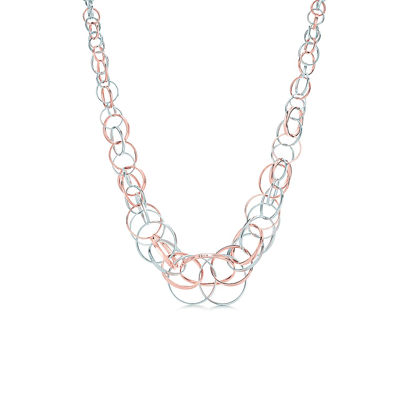 Necklace With  Interlocking Rings