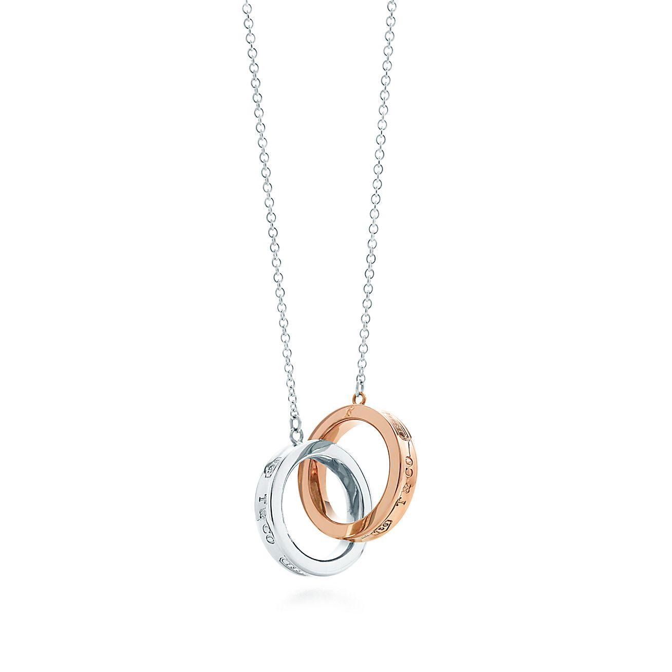Tiffany 1837 174 Interlocking Circles Pendant In Sterling