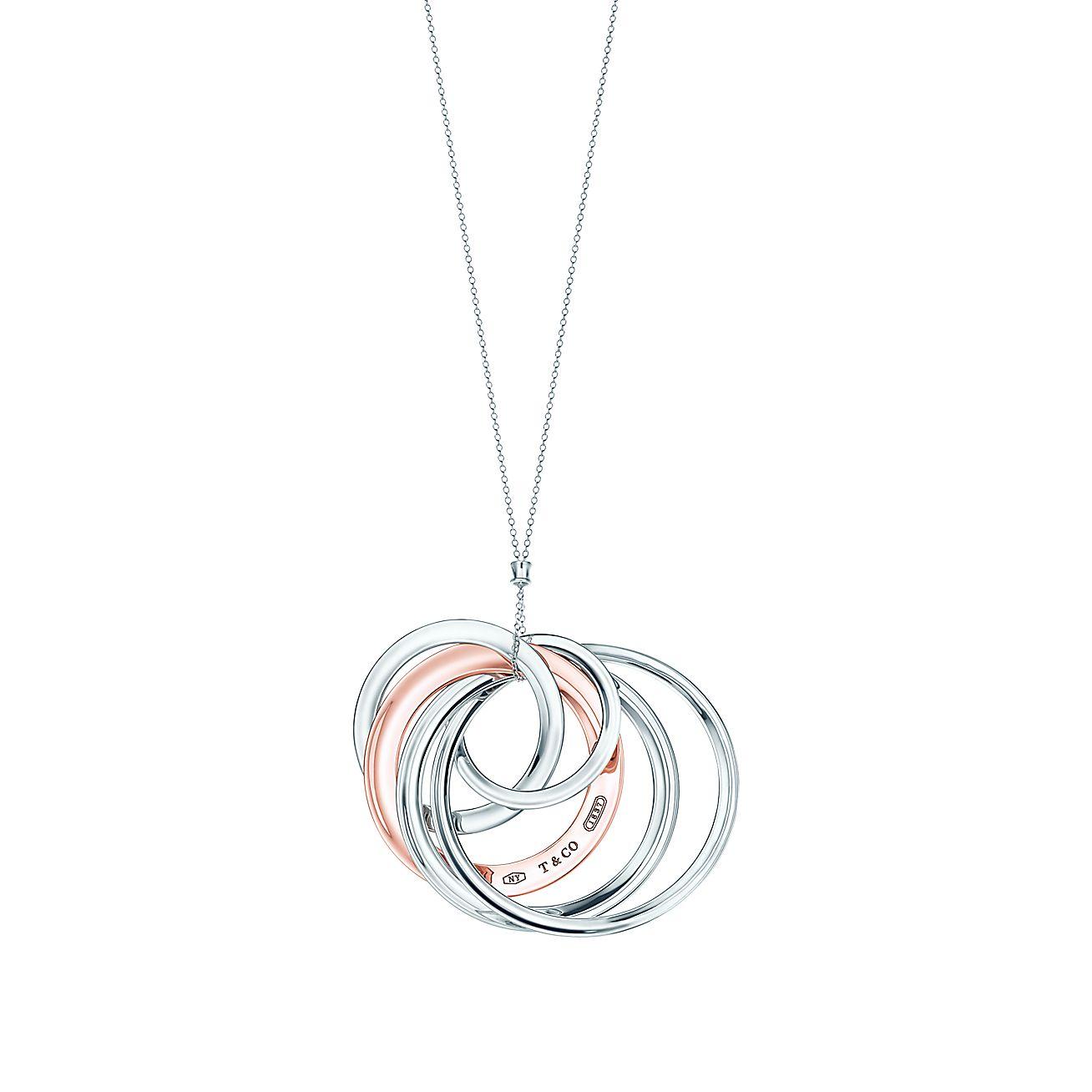 Tiffany 1837® interlocking circles pendant in RUBEDO