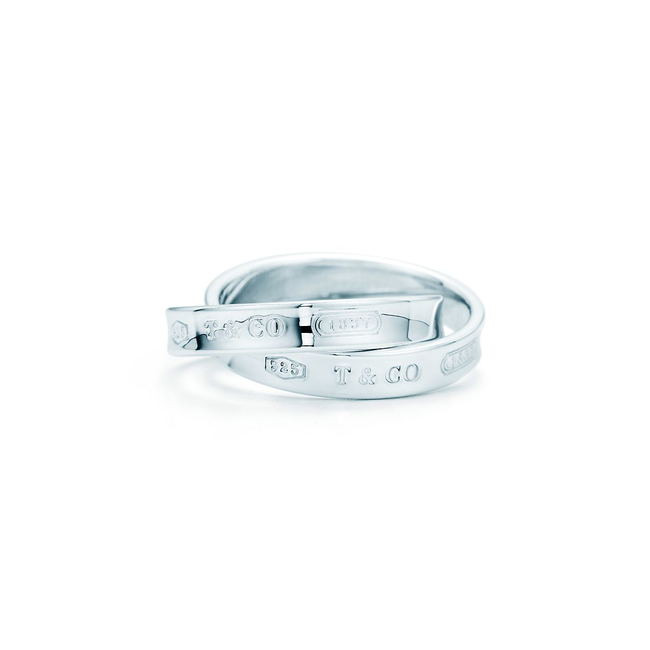 Tiffany 1837 Interlocking Circles Ring In Sterling Silver