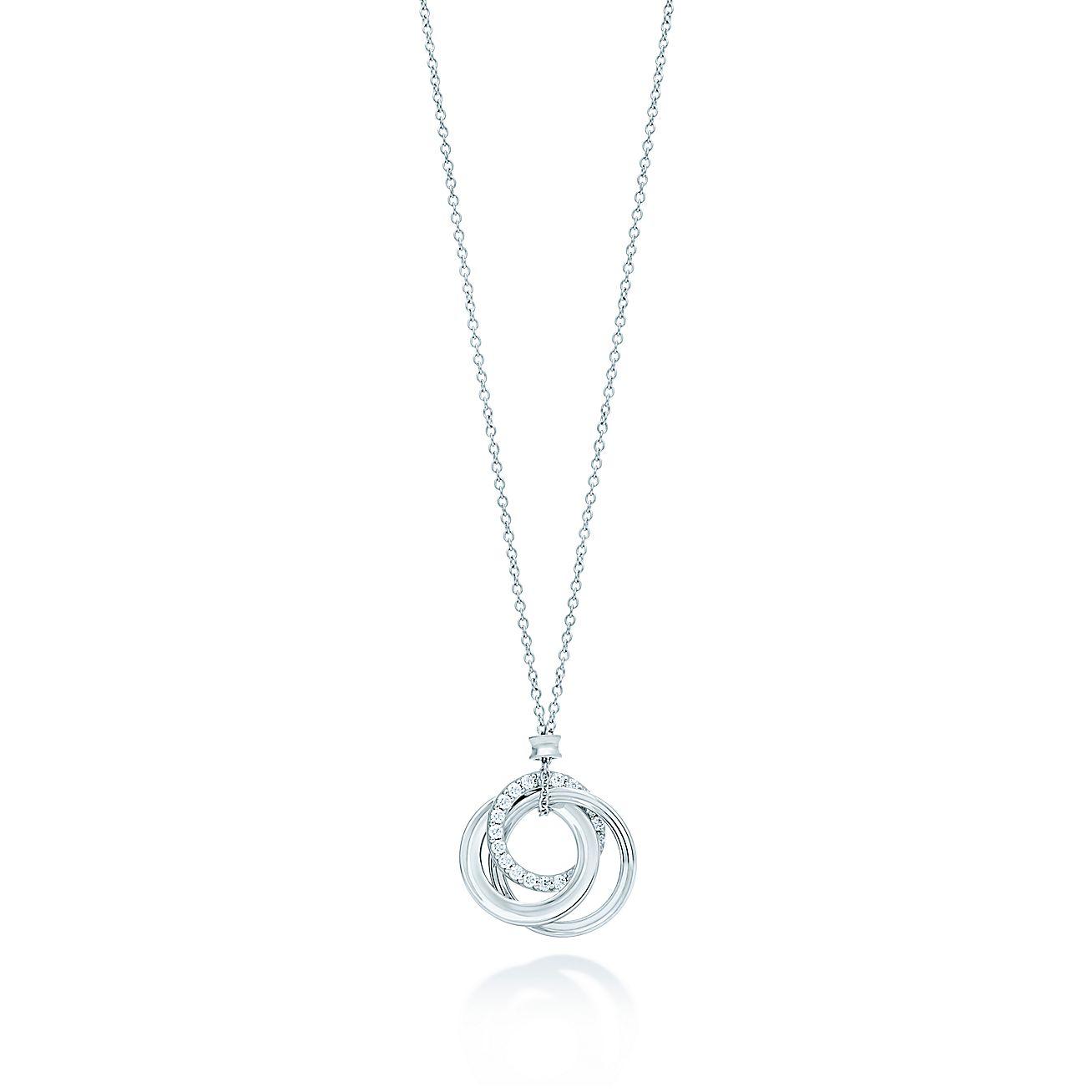 Tiffany 1837 interlocking circles pendant in 18k white gold with tiffany 1837 interlocking circles pendant in 18k white gold with diamonds tiffany co aloadofball Gallery