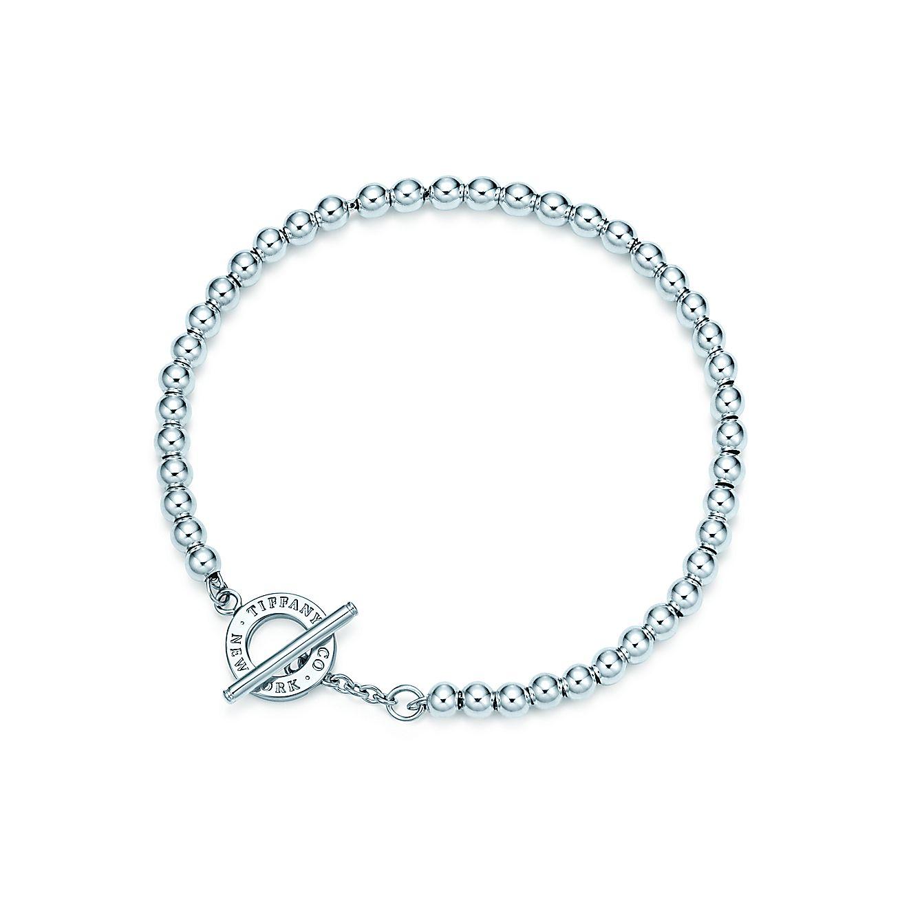 tiffany beads toggle bracelet in sterling silver medium. Black Bedroom Furniture Sets. Home Design Ideas