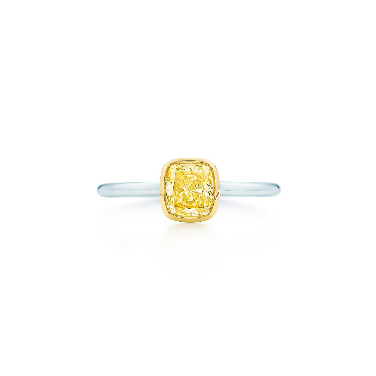 Tiffany Bezet:yellow diamond ring