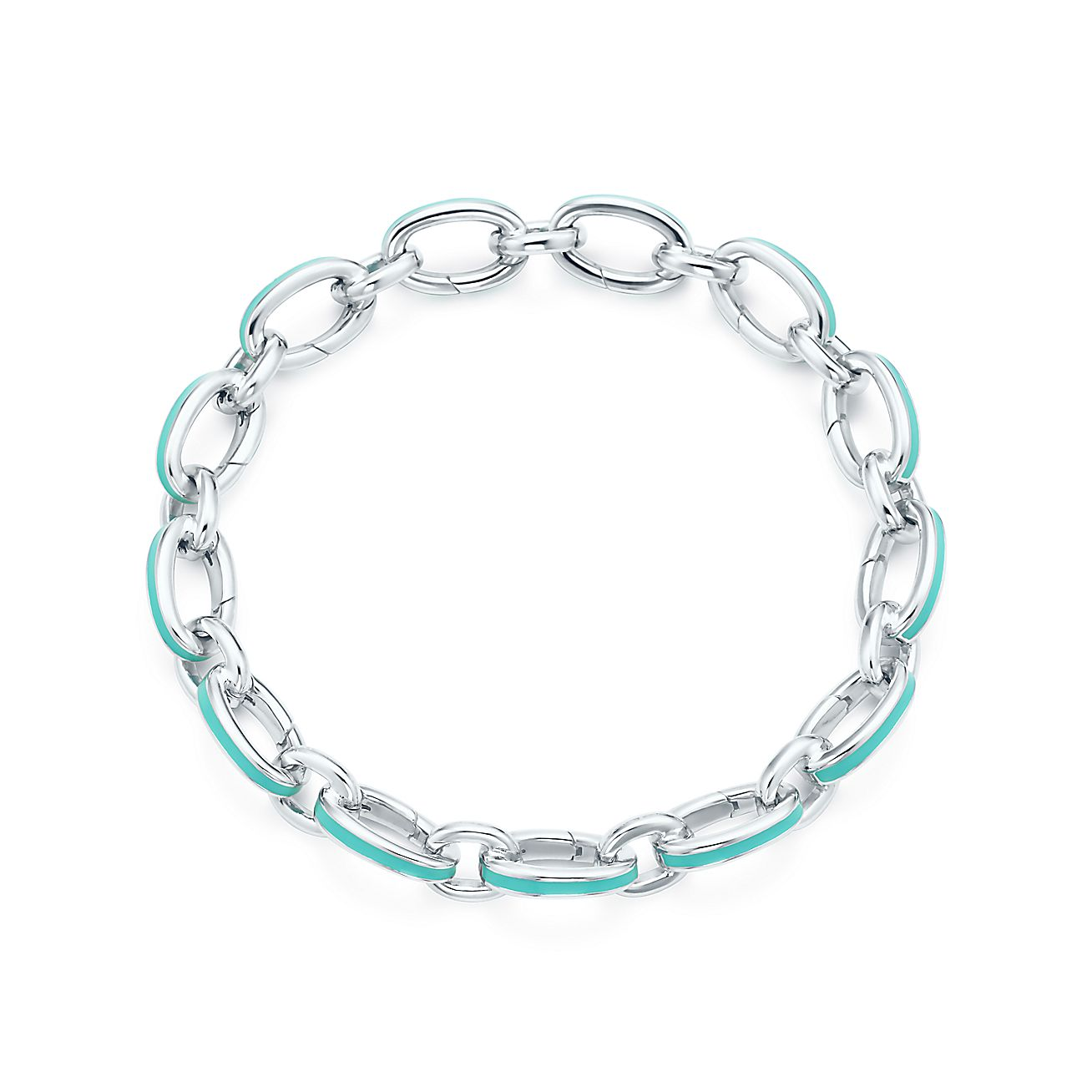 Tiffany Blue<br>Clasping Link Bracelet