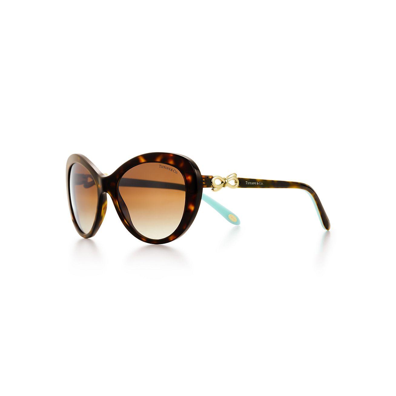 Tiffany Bow cat eye sunglasses in tortoise acetate ...