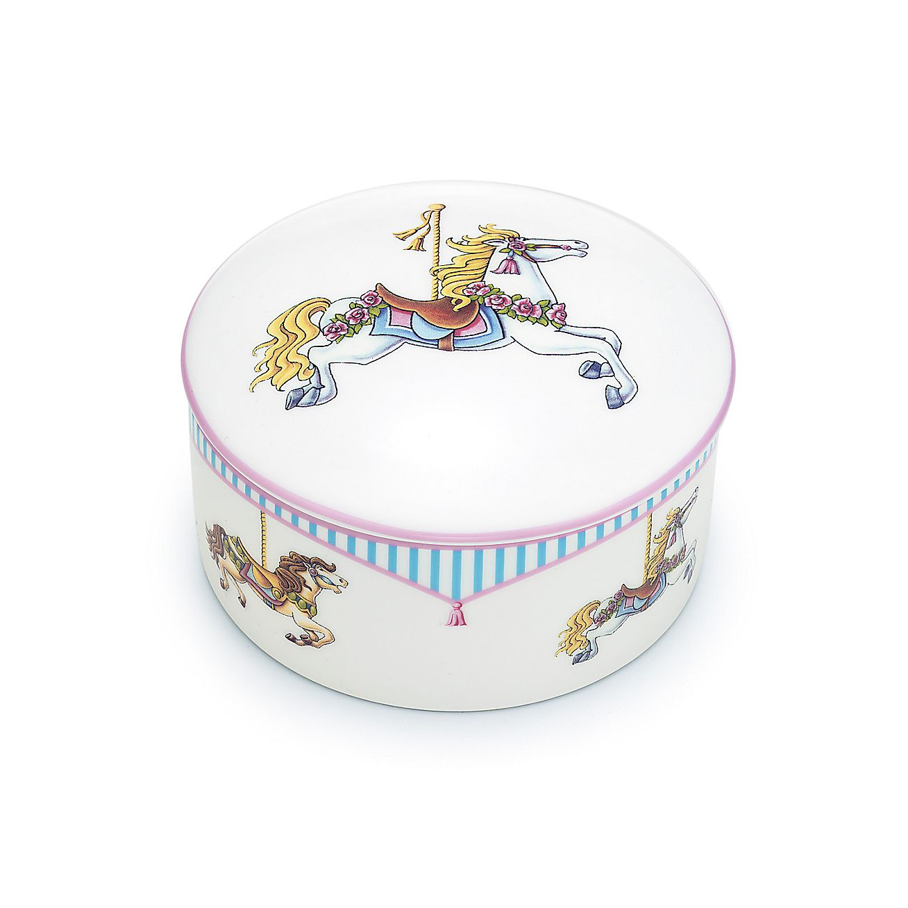 Tiffany Baby Gifts Australia : Tiffany carousel round box in limoges porcelain