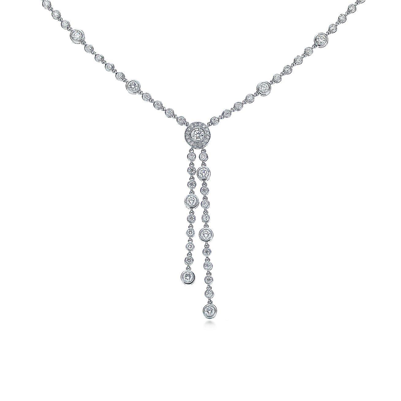 Tiffany Circlet:Double Drop Necklace