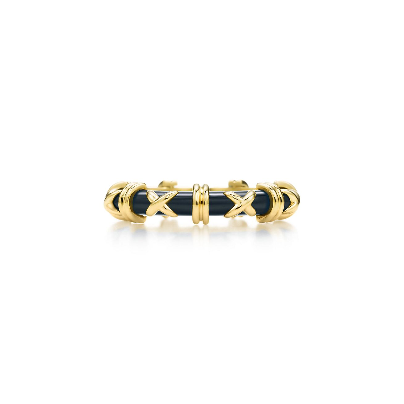 Tiffany Amp Co Schlumberger Croisillon Ring In 18k Gold With Enamel Tiffany Amp Co