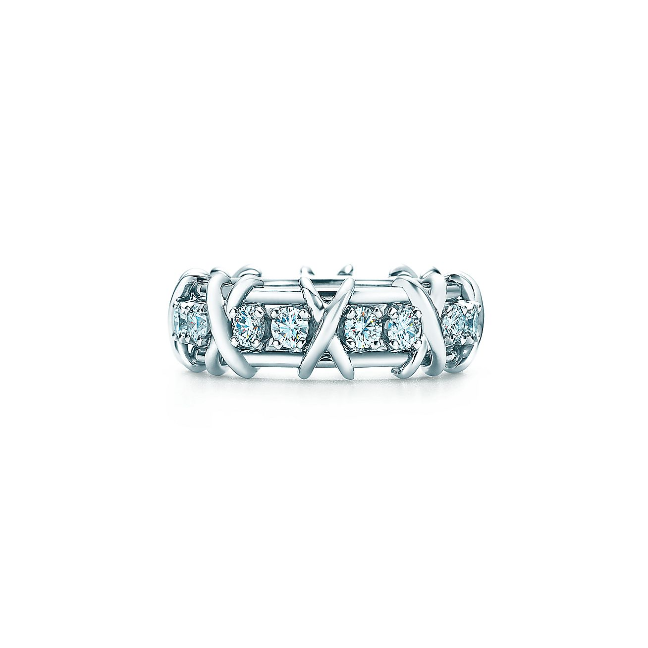 tiffany co schlumberger eighteen stone ring in platinum with diamonds tiffany co. Black Bedroom Furniture Sets. Home Design Ideas