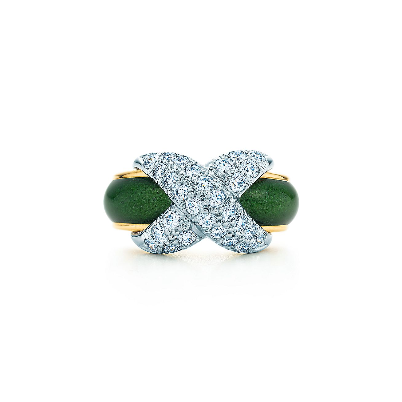 Tiffany & Co. Schlumberger®:Pavé X Ring
