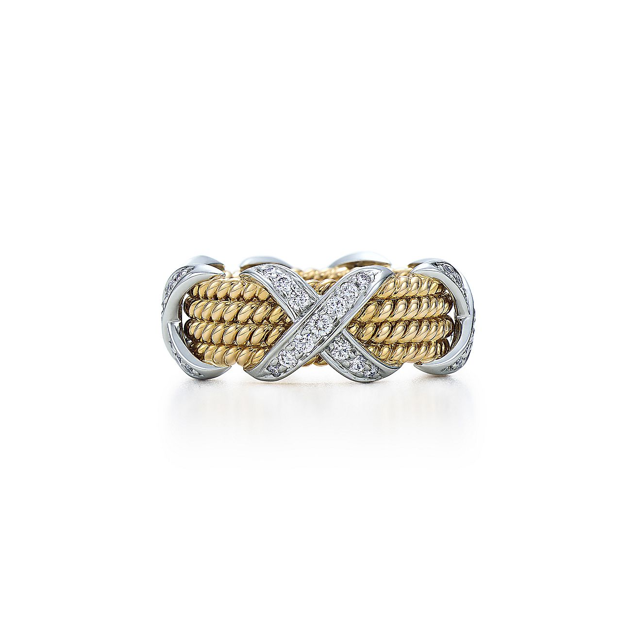 Tiffany & Co. Schlumberger®:Rope Four-row X Ring