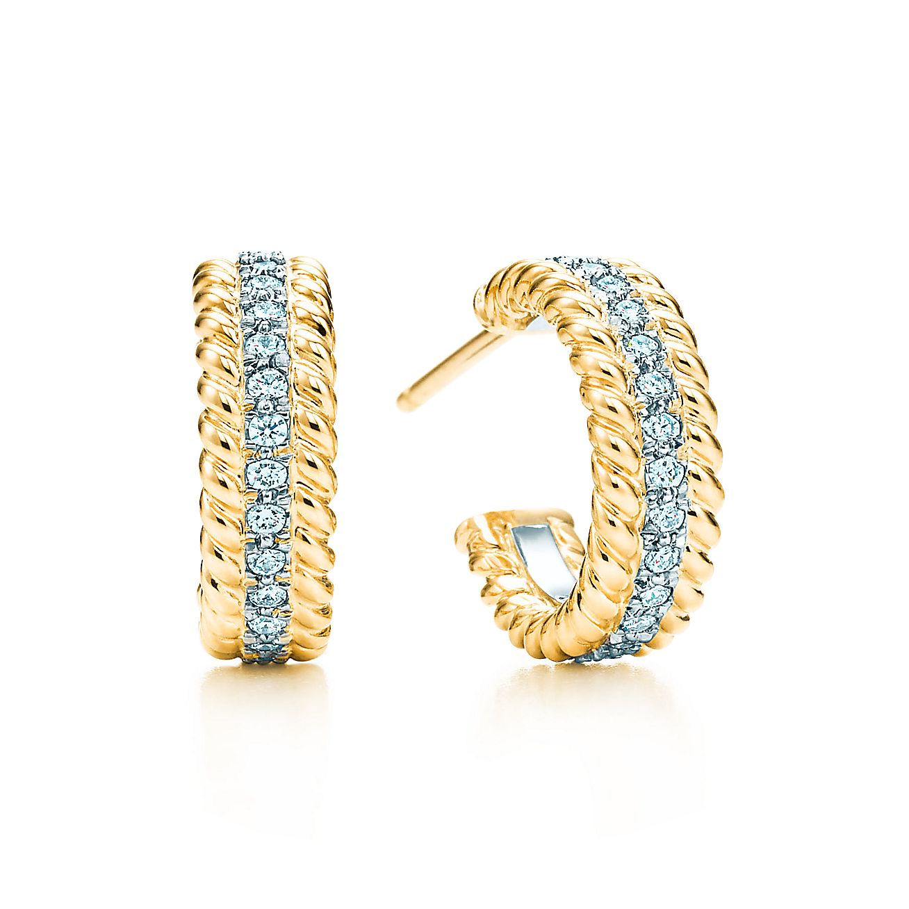 Tiffany & Co. Schlumberger®:Rope Two-row Hoop Earrings