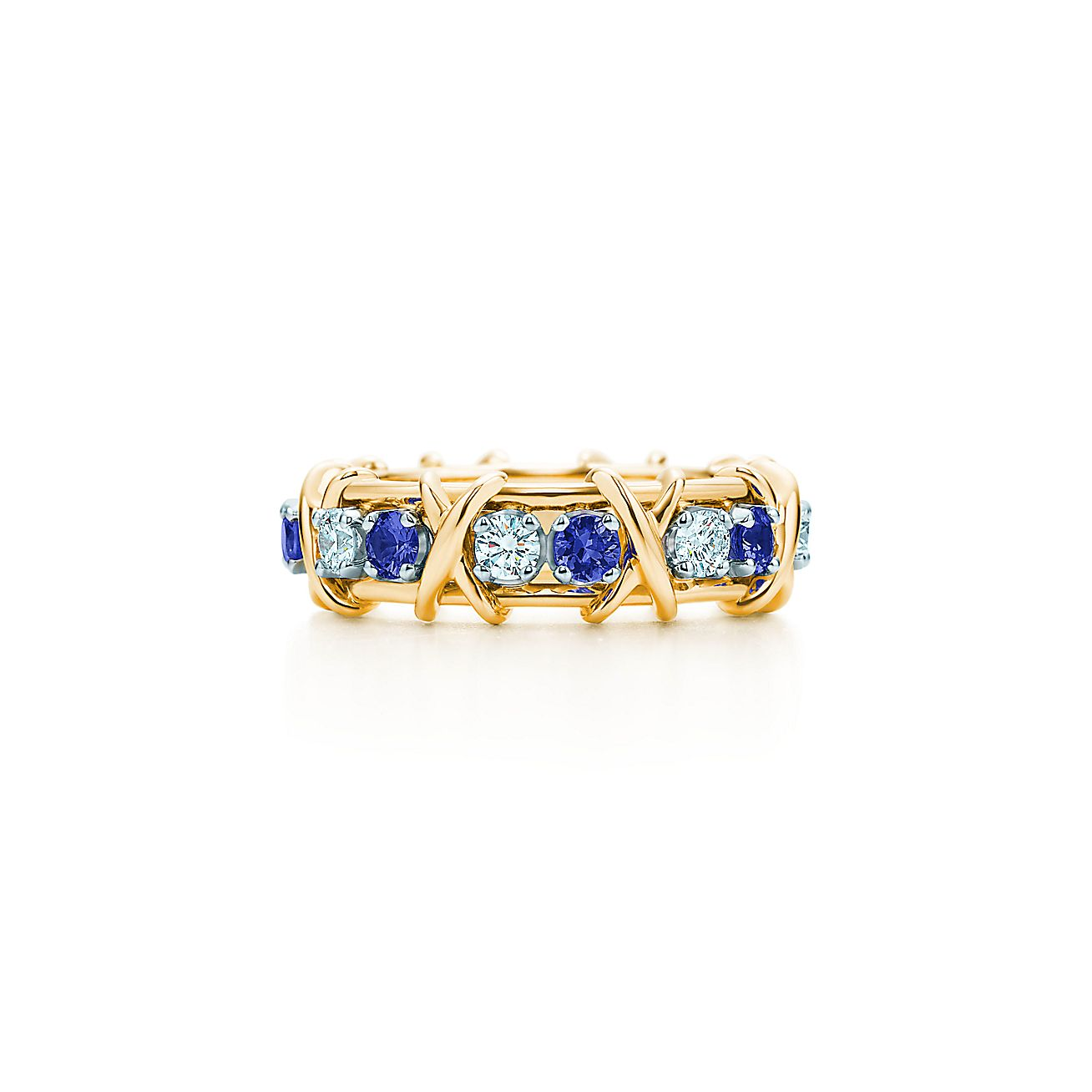 Schlumberger® Sixteen Stone Ring With Diamonds And Sapphires  Tiffany &  Co
