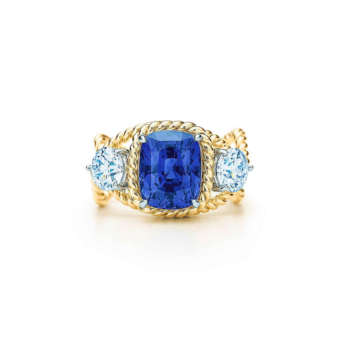 Tiffany Amp Co Schlumberger Rope Ring With A 5 46 Carat