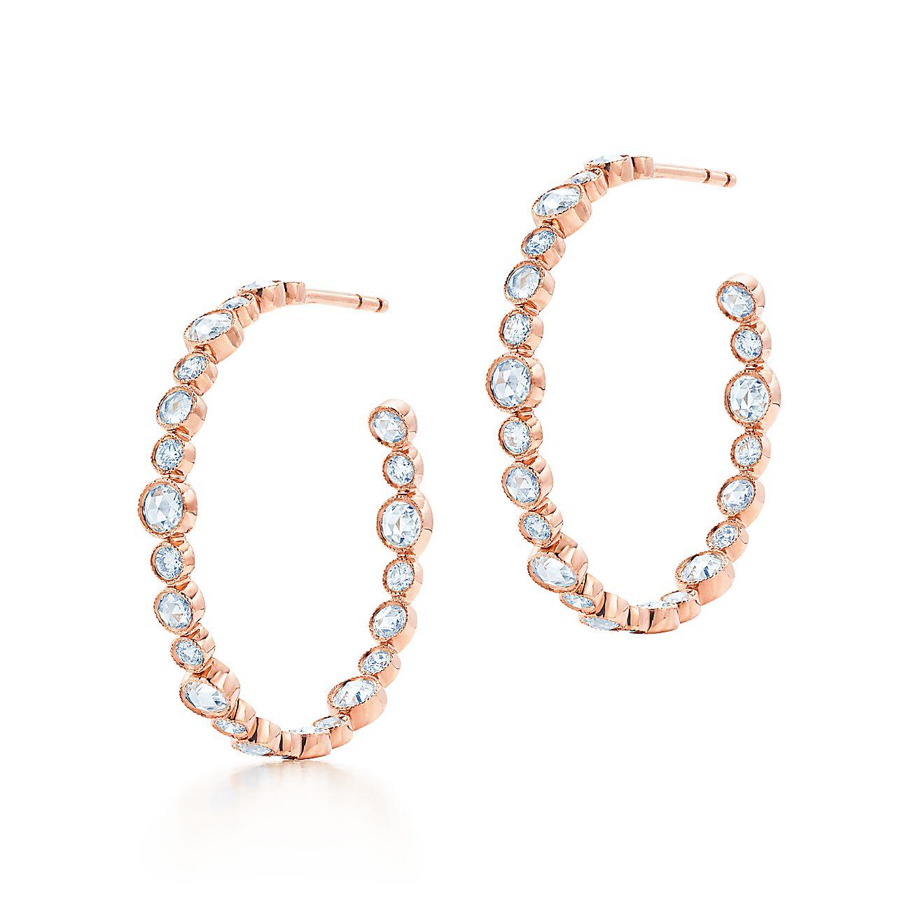 Tiffany Cobblestone:Diamond Hoop Earrings