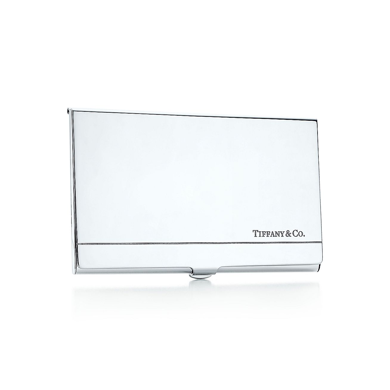 tiffany cor business card case in sterling silver