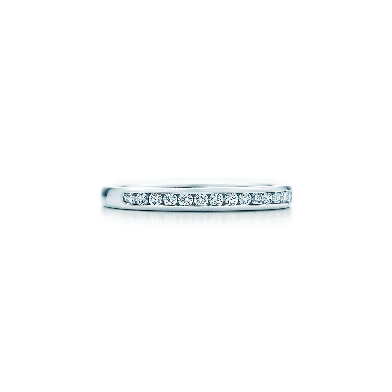Tiffany diamond wedding band in platinum 2 mm wide tiffany co junglespirit Image collections