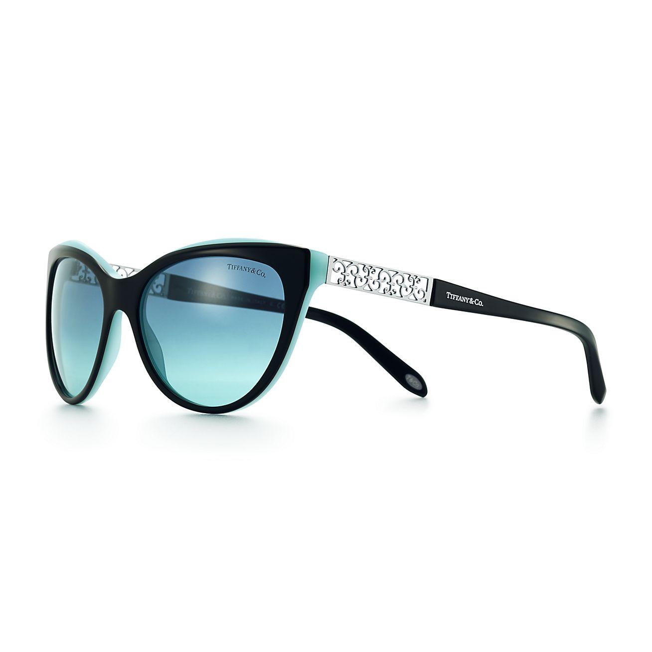 Tiffany Enchant cat eye sunglasses in black and Tiffany ...