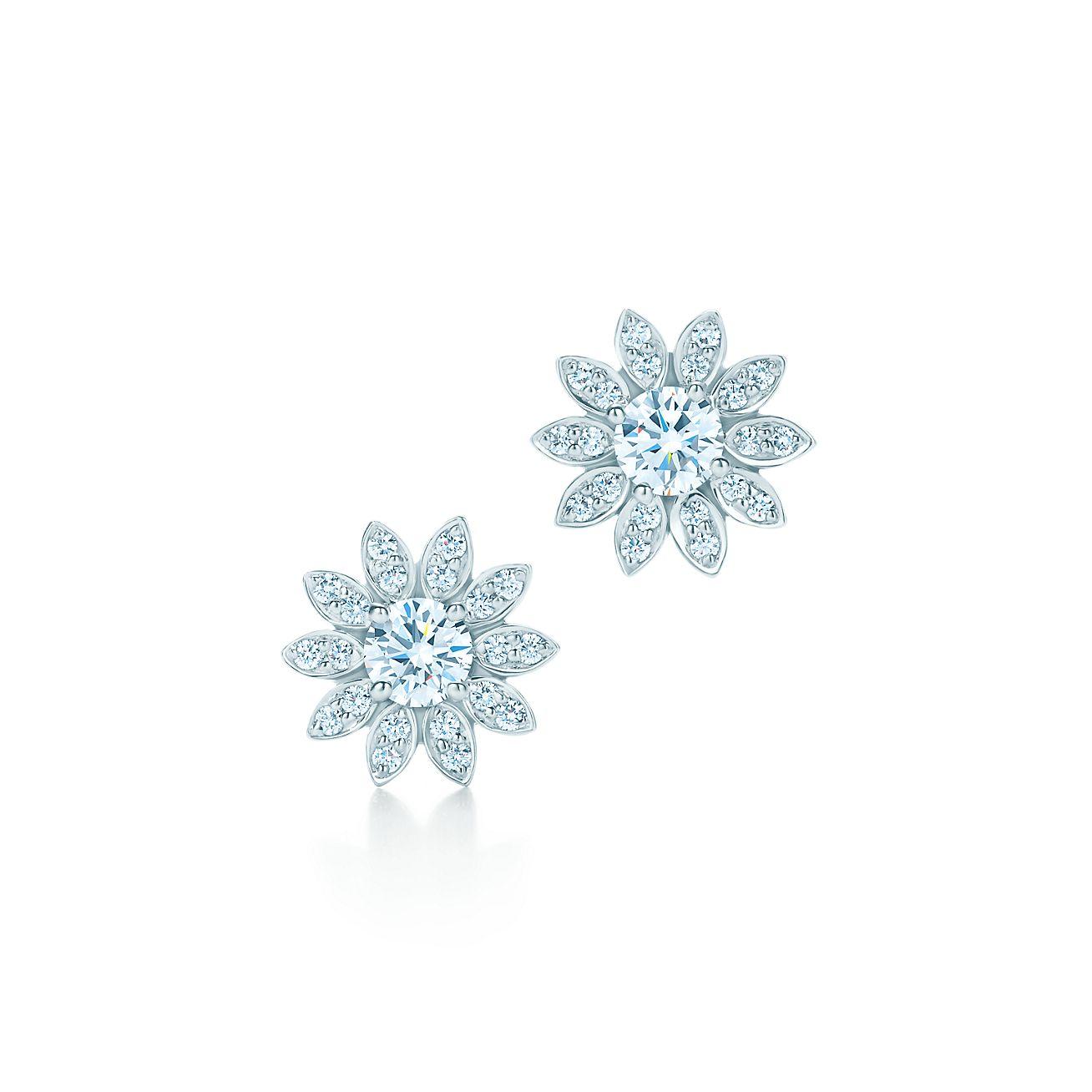 Diamond Snowflake Earrings Tiffany
