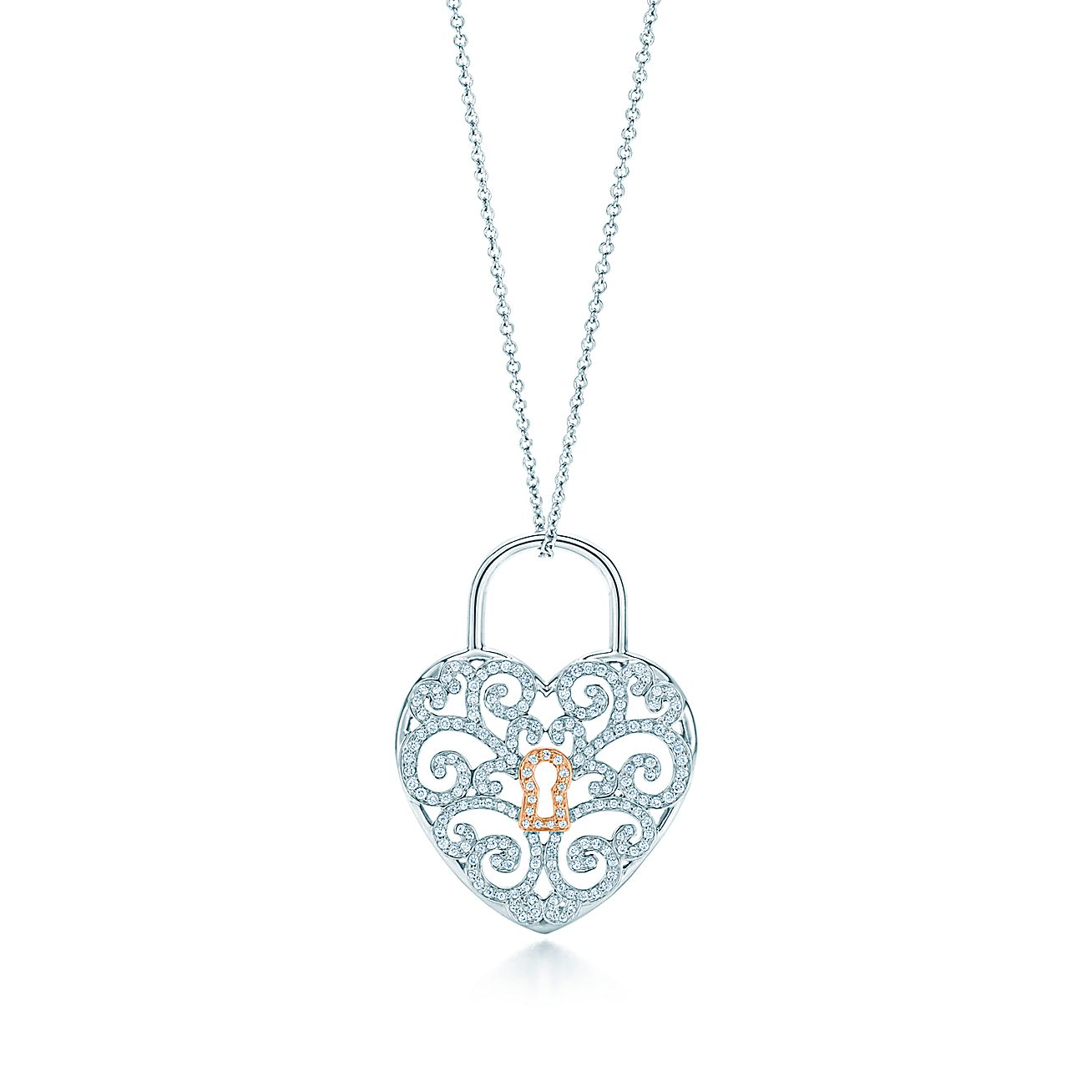 Tiffany Enchant®:Heart Lock Pendant