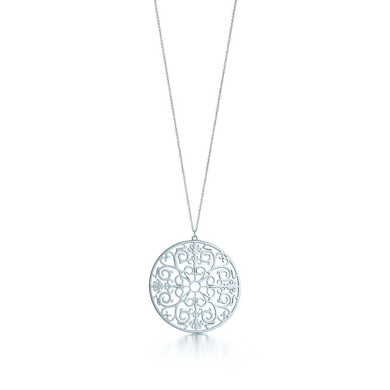 Tiffany enchant round pendant in sterling silver medium tiffany enchant round pendant in sterling silver medium tiffany co mozeypictures Images