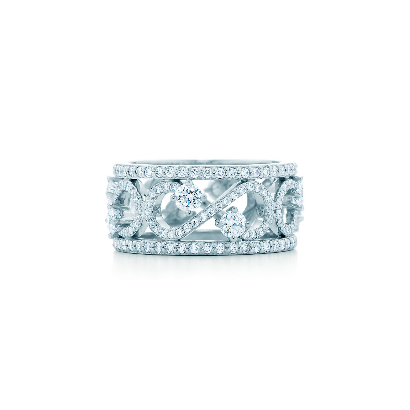 Tiffany Enchant 174 Scroll Band Ring In Platinum With