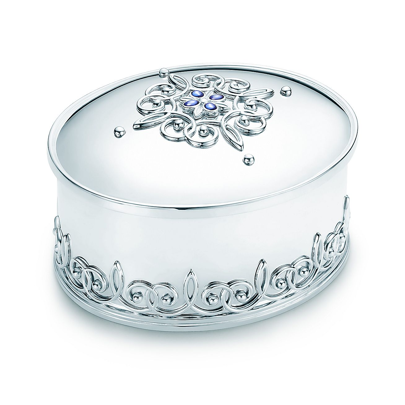 Tiffany Enchant®:Scroll Oval Box