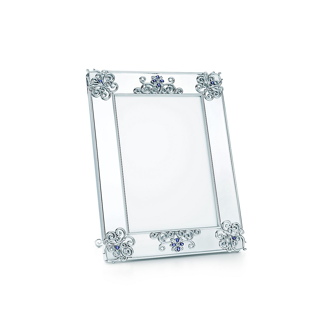 Tiffany Enchant® scroll frame in sterling silver with