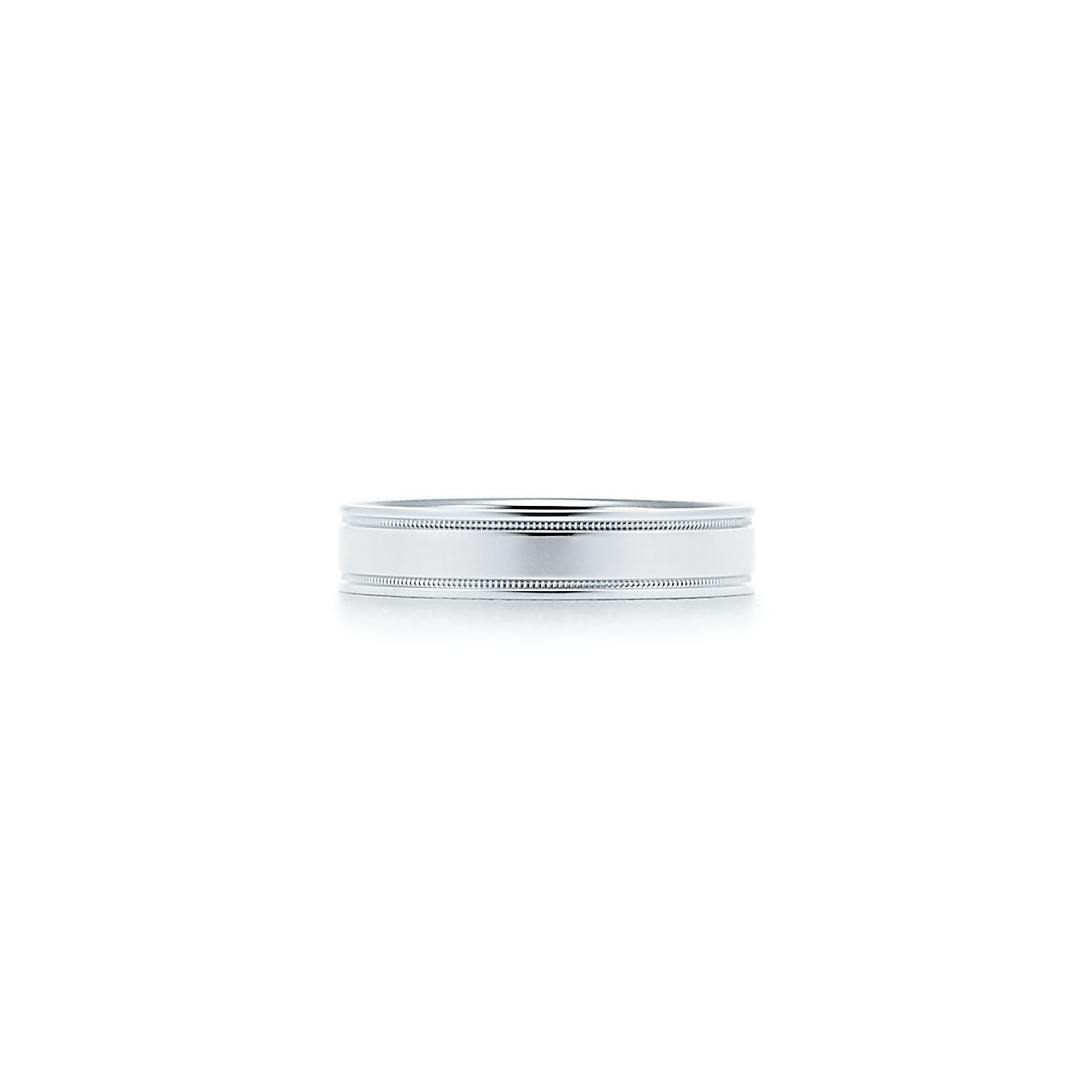 Tiffany flat double milgrain wedding band ring in platinum 4 mm tiffany flat double milgrain wedding band ring in platinum 4 mm wide tiffany co junglespirit Image collections