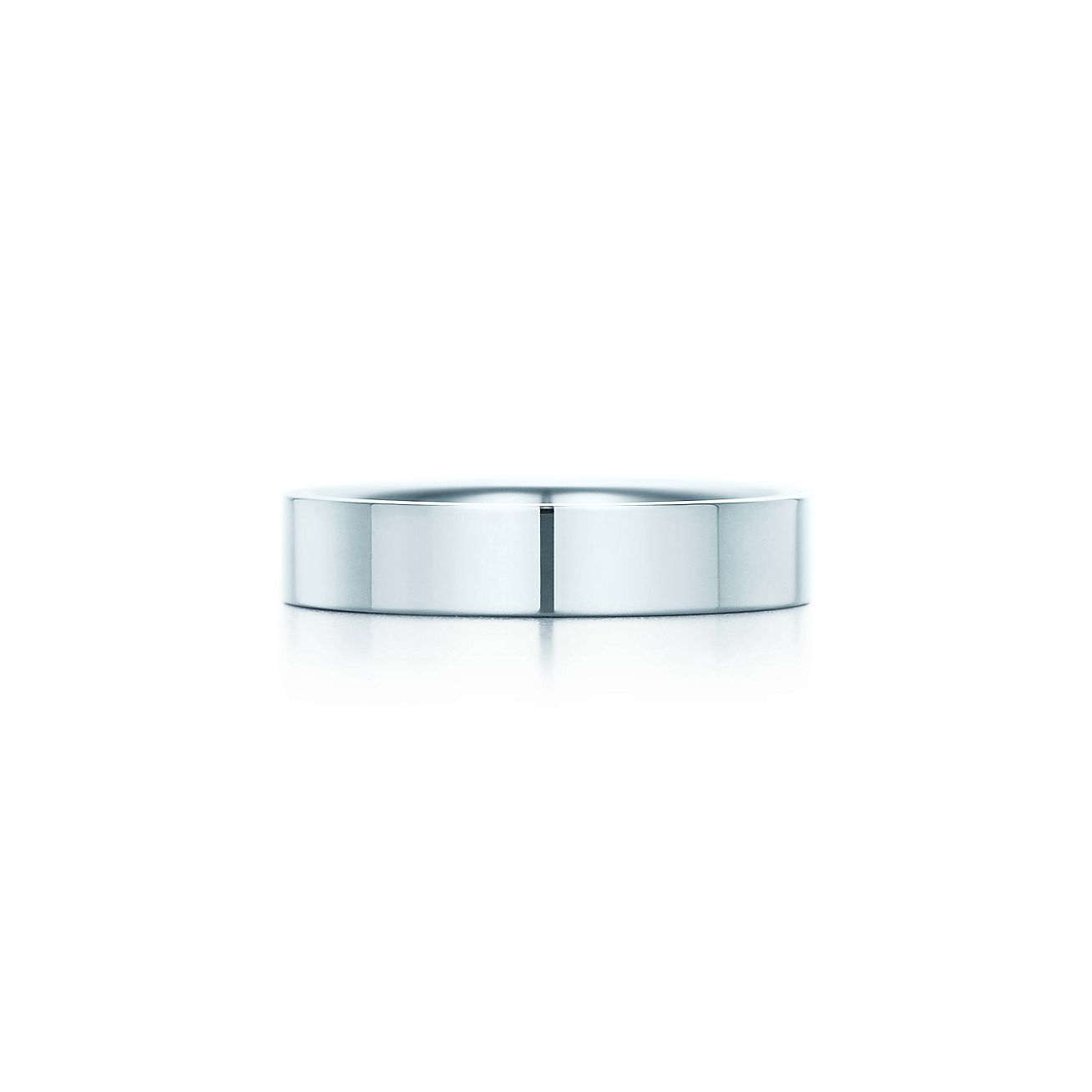 Tiffany Flat Wedding Band Ring In Platinum 4 Mm Wide