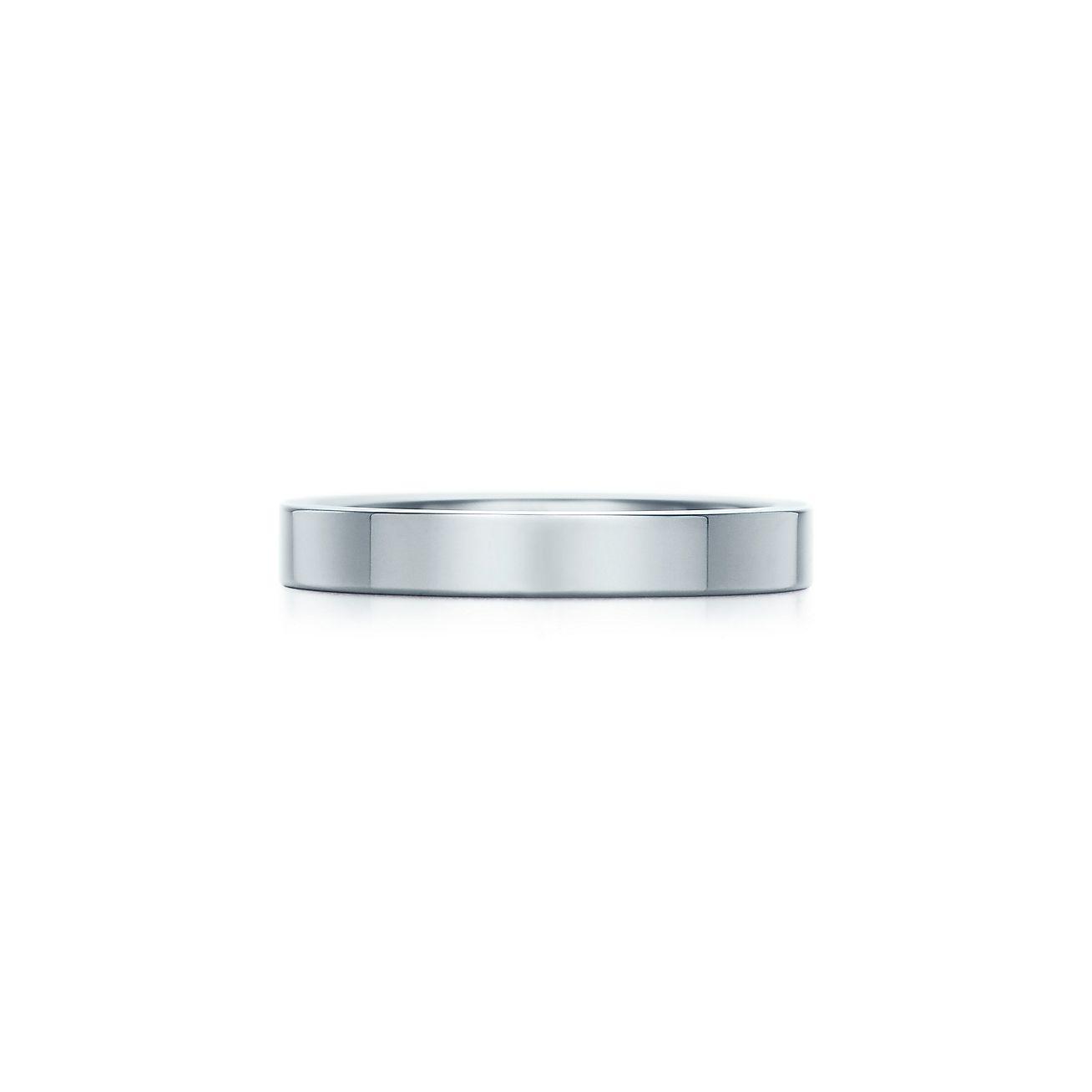 Marvelous Tiffany Flat Wedding Band Ring In Platinum, 3 Mm Wide. | Tiffany U0026 Co.