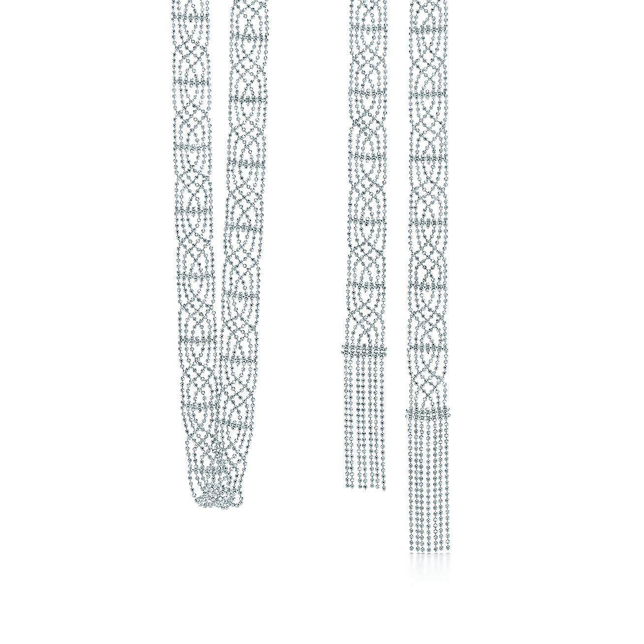 Tiffany Fringe tassel necklace in sterling silver