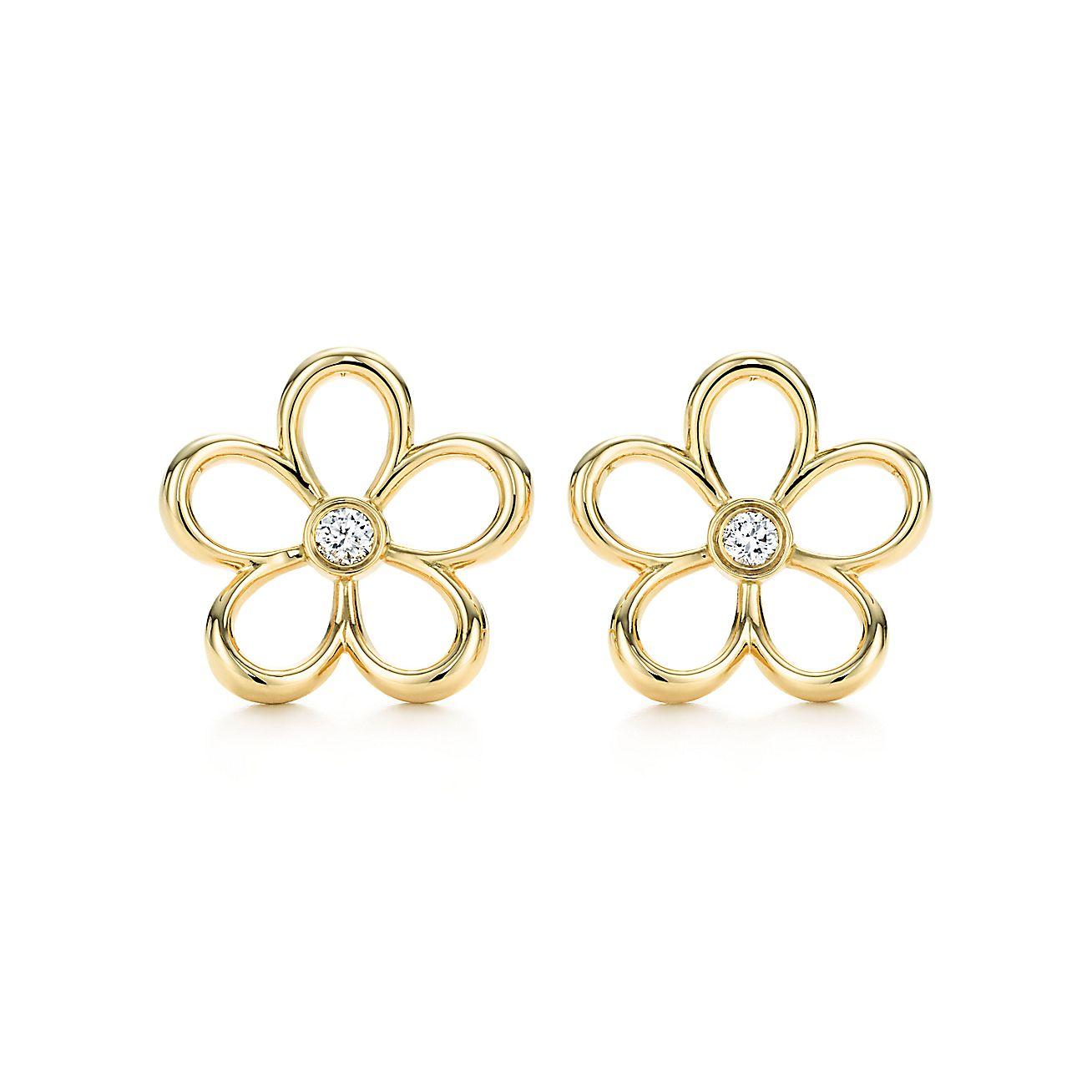 Tiffany Garden:Open Flower Earrings