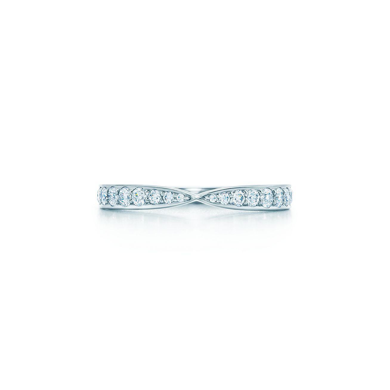 Tiffany Harmony ring in platinum with beadset diamonds