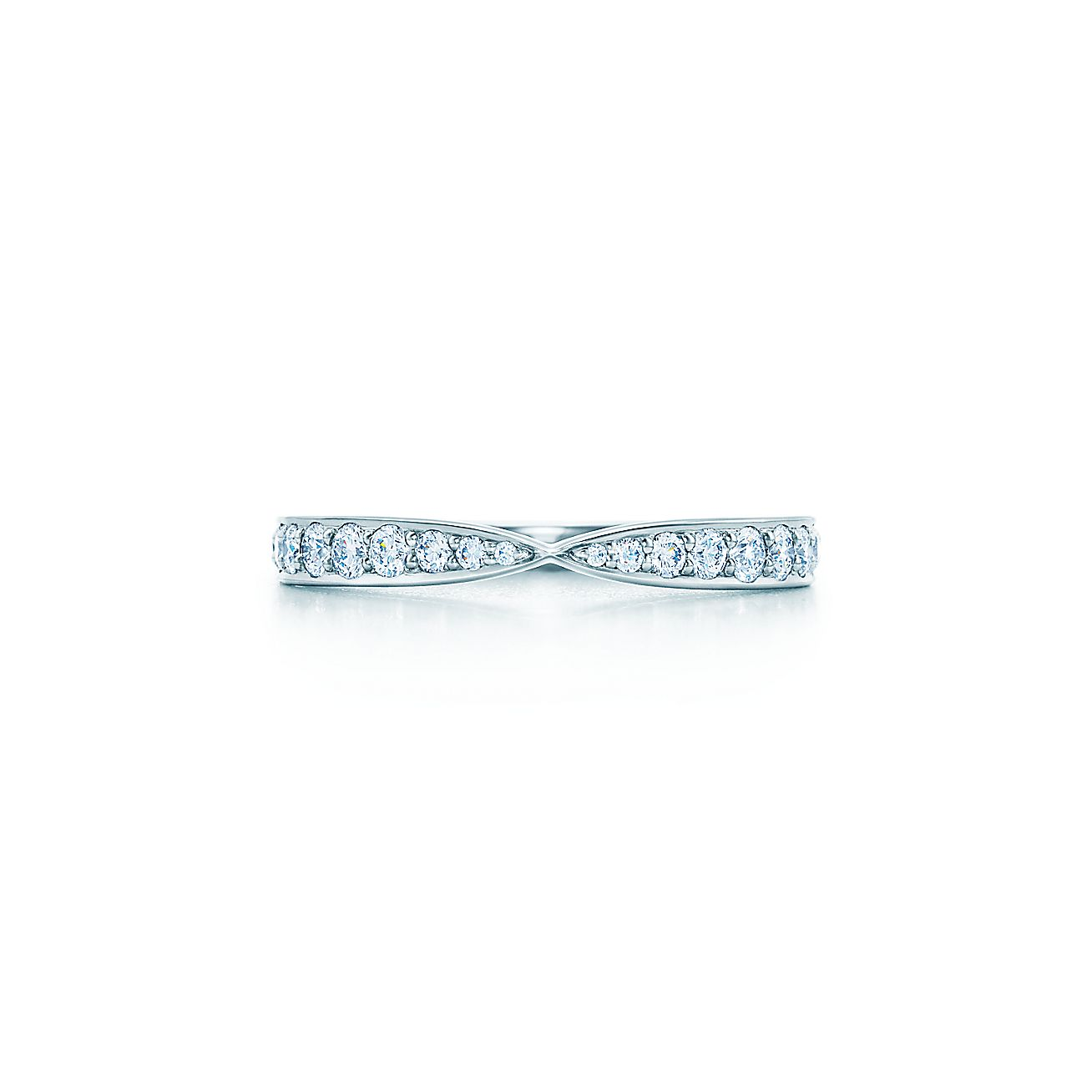 Tiffany HarmonyR Ring In Platinum With Bead Set Diamonds