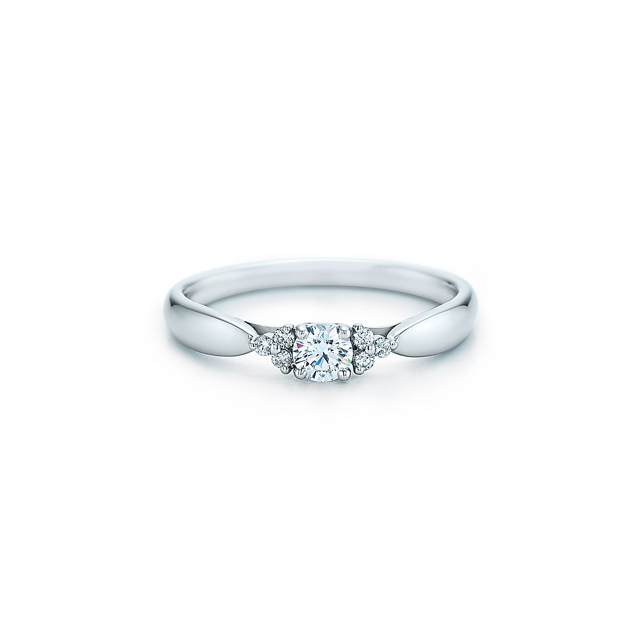 Tiffany Harmony®:Diamond Ring with<br>Side Stones