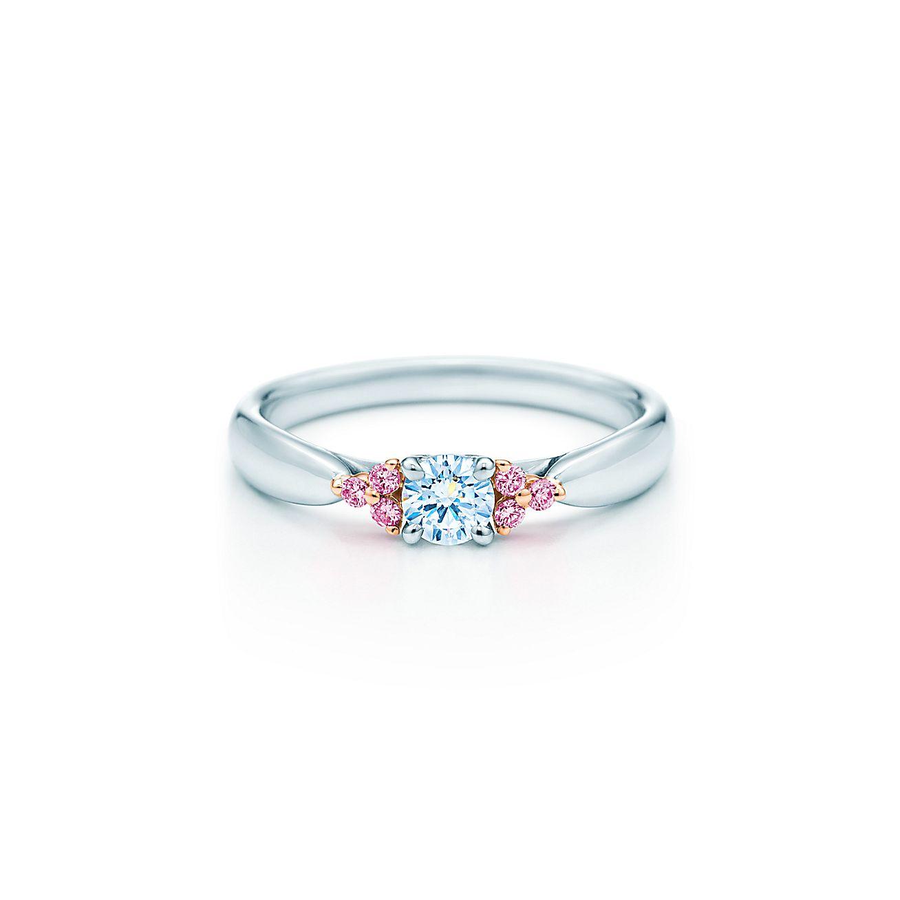 Tiffany Harmony™:Fancy Pink Diamond<br>Side Stone Ring