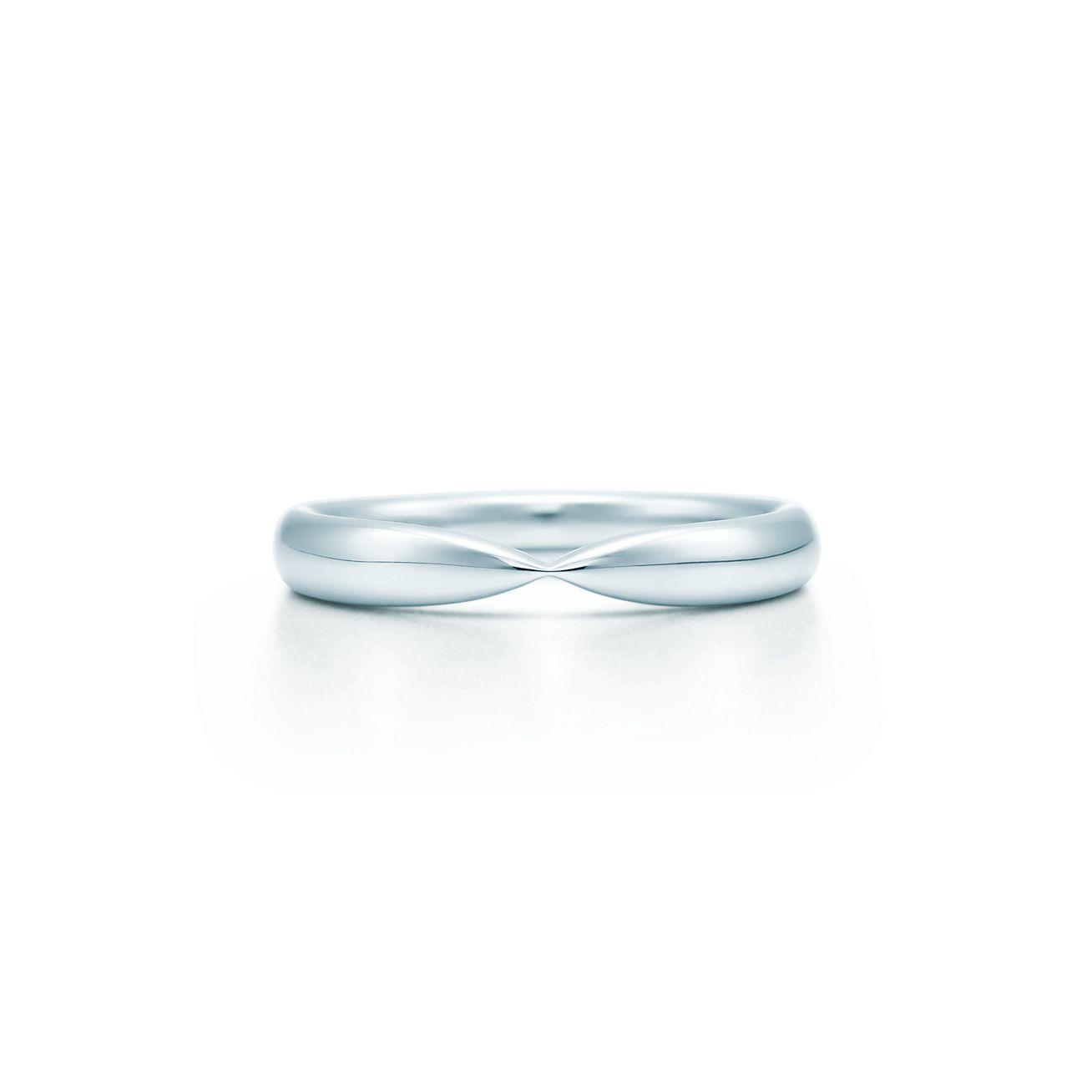Tiffany Harmony wedding band in platinum 3 mm wide Tiffany Co