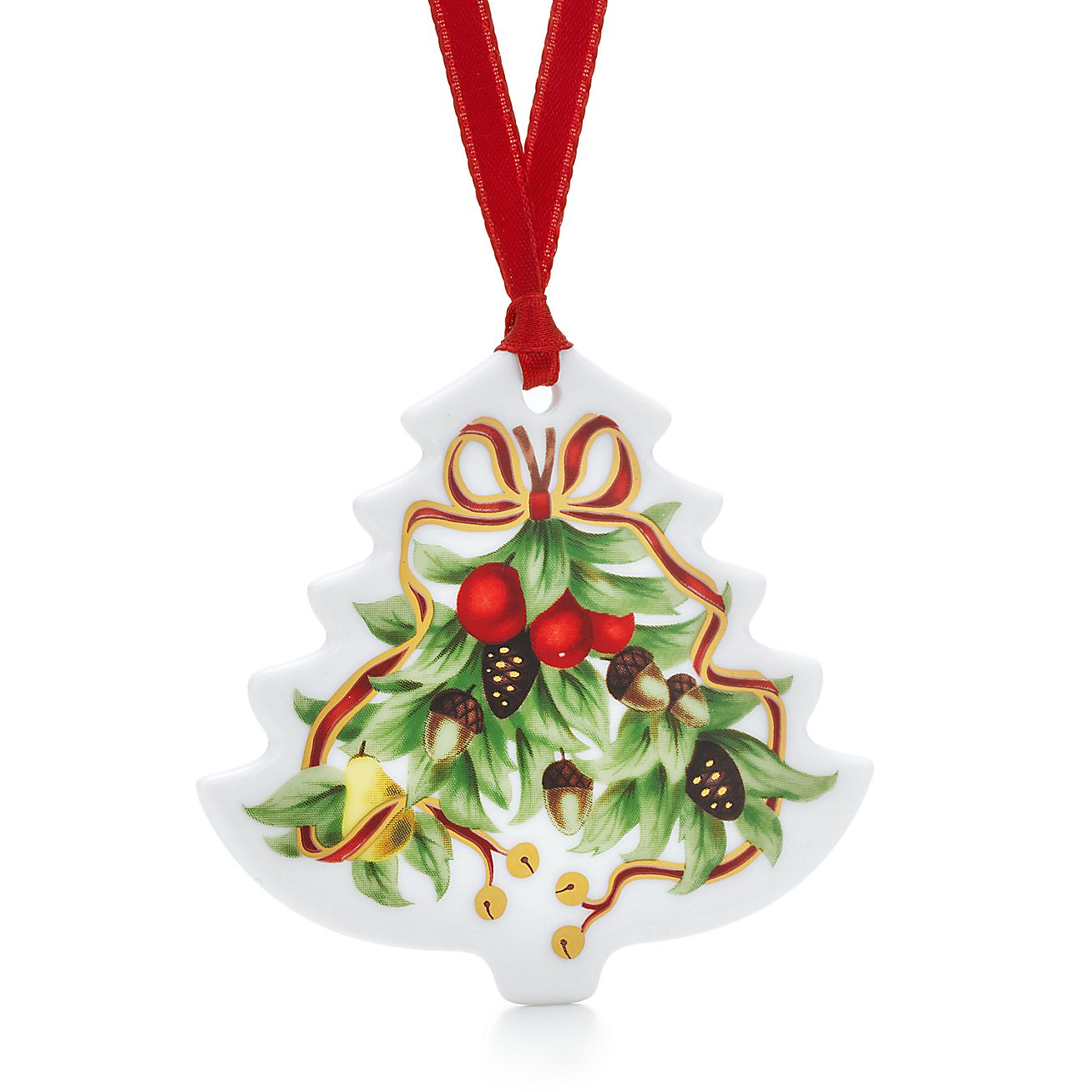 Tiffany Holiday™ Christmas tree ornament in porcelain ...