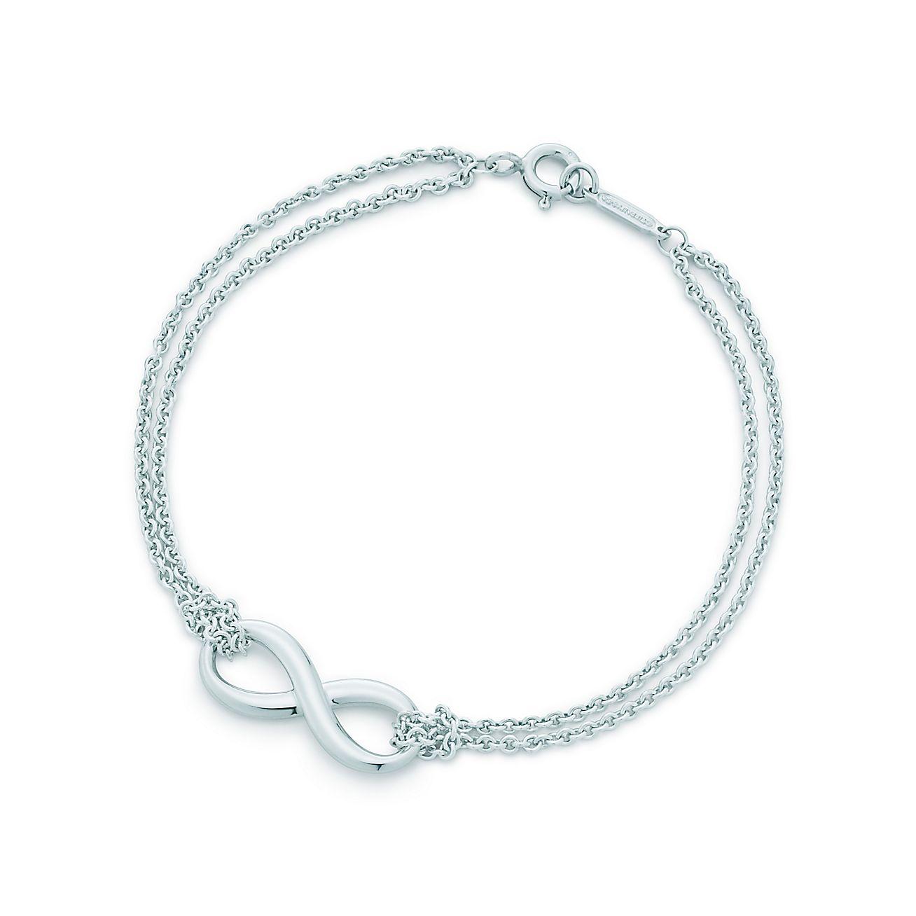 New Tiffany Infinity Bracelet In Sterling Silver, Medium