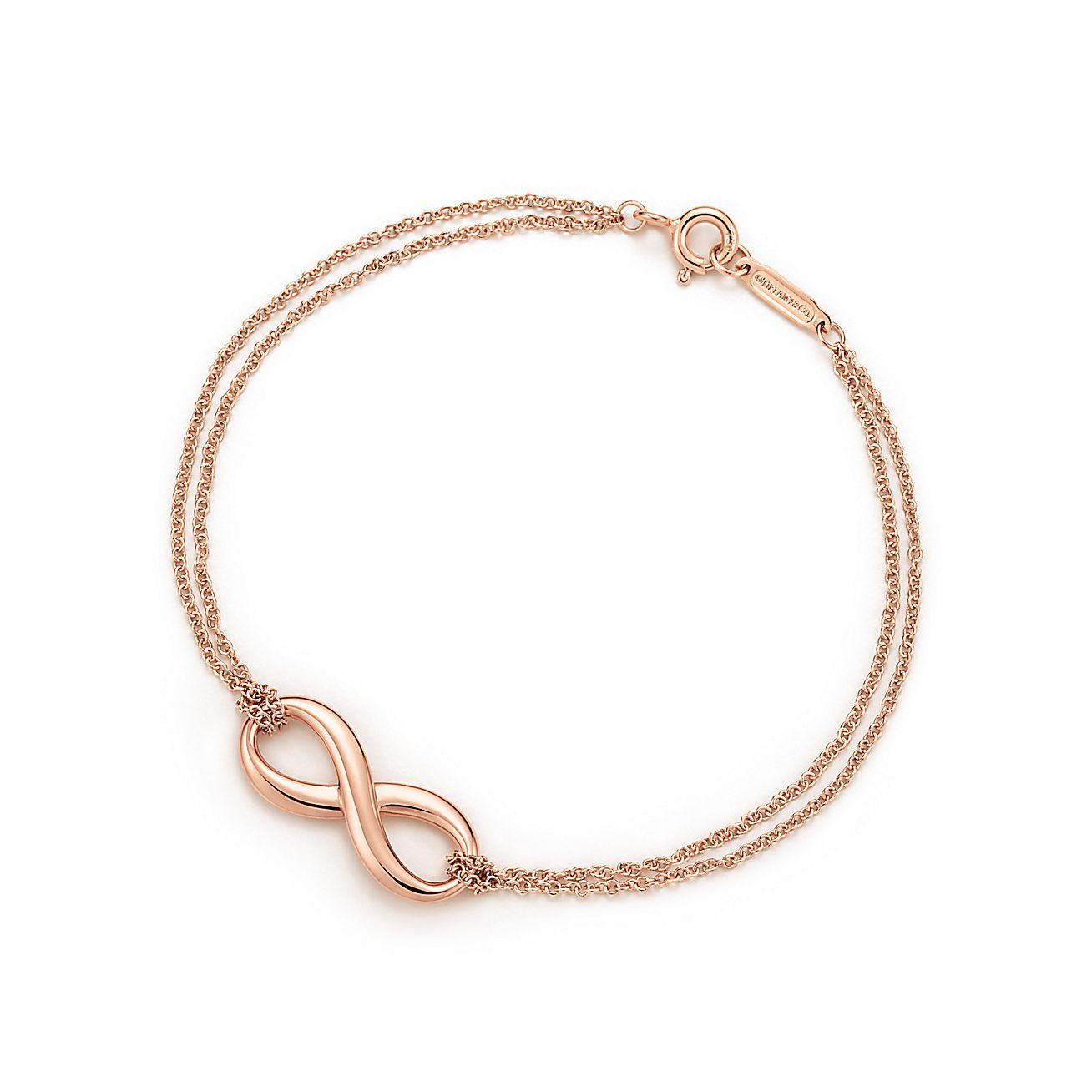 tiffany infinity bracelet in 18k rose gold medium. Black Bedroom Furniture Sets. Home Design Ideas