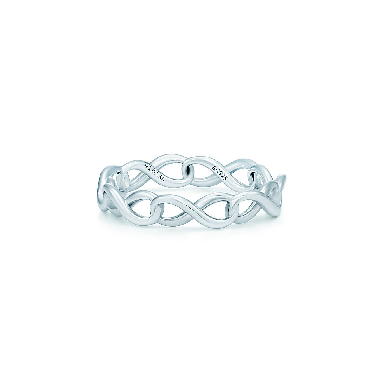 tiffany infinity narrow band ring in sterling silver tiffany co - Tiffanys Wedding Rings