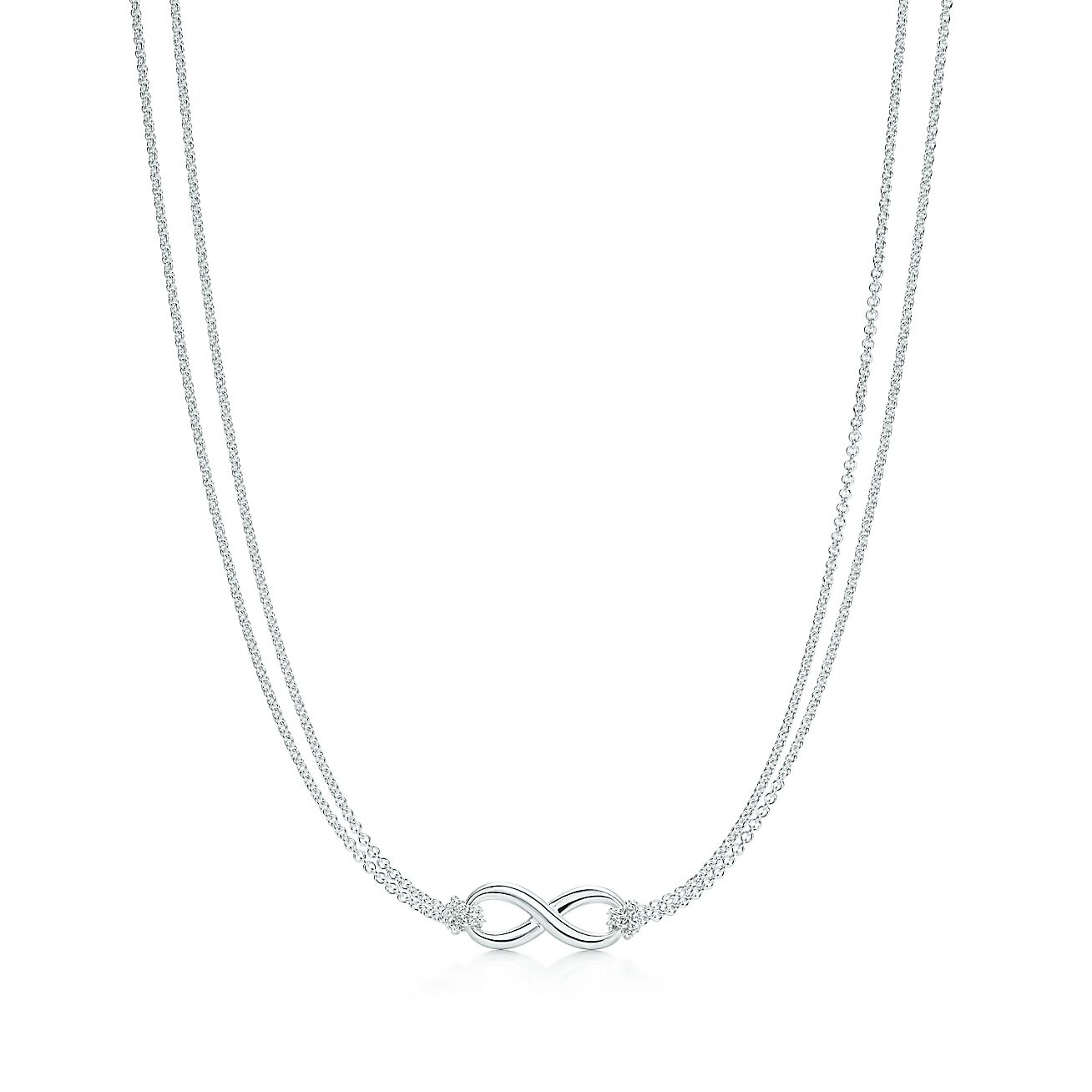 "Tiffany Infinity pendant in sterling silver on a 17"" chain ..."